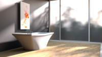 modern bathtub 3ds
