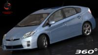 toyota prius 2011 3d model