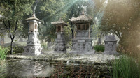 3d model ancient sacred balinese hindu