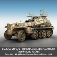 sd kfz 250 9 3d model
