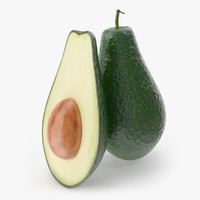 avocado photorealistic modeled 3d 3ds