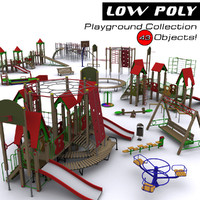 3d playground objects model