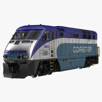 diesel electric locomotive f59 3d model