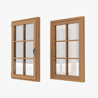 window realistic 3d model