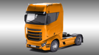 3d design generic truck trailer model