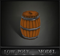 3d model barrel games ready