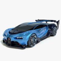 3d 2016 bugatti vision gran model