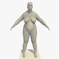 base mesh obese african 3d c4d
