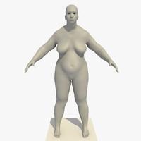 3d model base mesh obese african