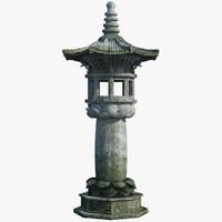 max chinese stone lamp