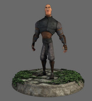 3d rigged stylized character