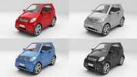 generic smart car colour 3d model