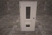 3d door handle house model