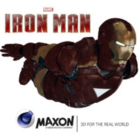 mark 6 suit iron 3d c4d