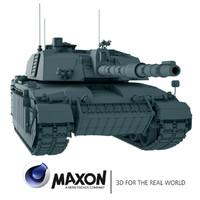 c4d challenger battle tank