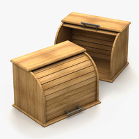 wooden bread box 3d max