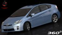 3d toyota prius 2011 interior model
