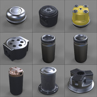 Hard Surface Kitbash Library - Canisters