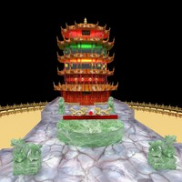 chinese tower 3d max