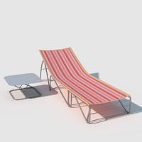 3d sunbed model