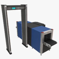 3d max metal detector x-ray scanner
