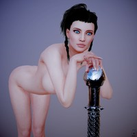 posed female character obj