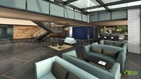 Corporate Office Lobby Interior Design Rendering