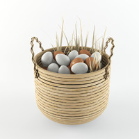 basket egg 3d max