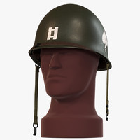 3ds max m1 helmet ww2 -