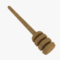 3d honey dipper model