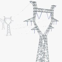 electricity pylons 3d model