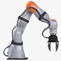 kuka robot arm lbr 3d model