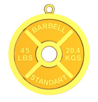 3d model barbell weight