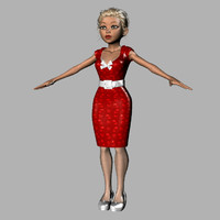 3d stylized woman