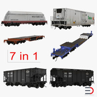 railroad industrial cars 3d max