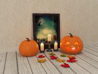 3d halloween decorative set
