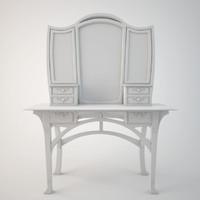 3d art nouveau dressing table