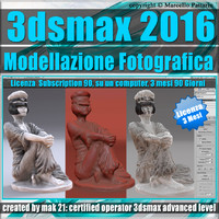 3ds max 2016 Modellazione Fotografica vol. 50 3 Mesi Subscription