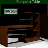 free table normal bump 3d model