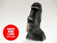 3d moai statue easter model