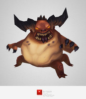 monster fat demon 3d model