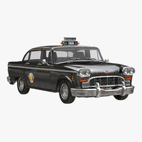 checker cab 3d model