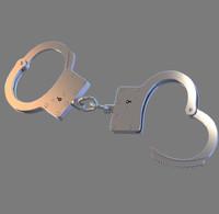 3d model handcuff cuff
