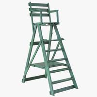 3d classic umpire chair green
