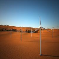 3d desert oasis fan model