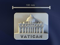 3d model vatican mold hand