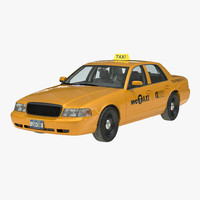 generic yellow taxi 3d 3ds