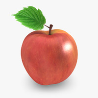3d model realistic apple 01