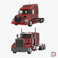 3ds max semi trailers truck