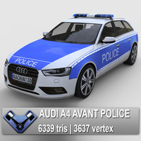 audi a4 police 3d model